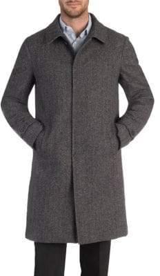 Norwegian Wool Wool-Cashmere Car Coat