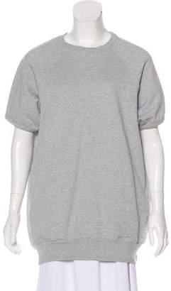 Bassike Rib Knit Crew Neck Sweatershirt