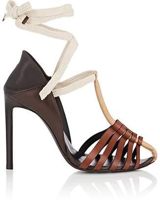 Saint Laurent Women's Majorelle Leather Sandals