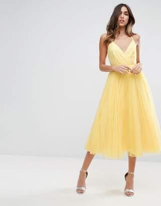 Asos Design Pinny Extreme Tulle Mesh Midi Dress