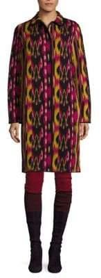 M Missoni Printed Button-Down Coat