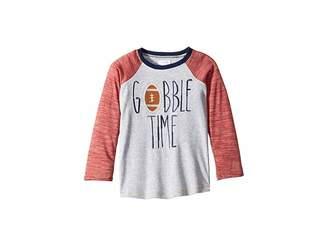 Mud Pie Thanksgiving Gobble Time Long Sleeve Raglan T-Shirt (Infant/Toddler)