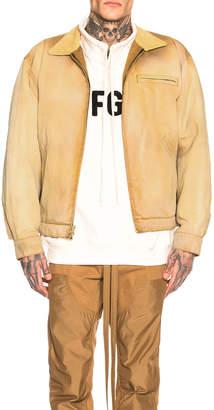 Fear Of God Canvas Work Jacket in Rust | FWRD