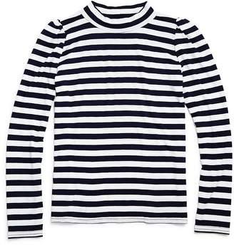 Aqua Girls' Puff-Sleeve Striped Top - Big Kid - 100% Exclusive