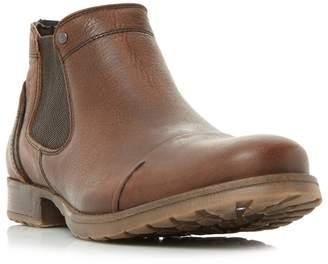Dune Brown 'Chesney' Toecap Distressed Chelsea Boots