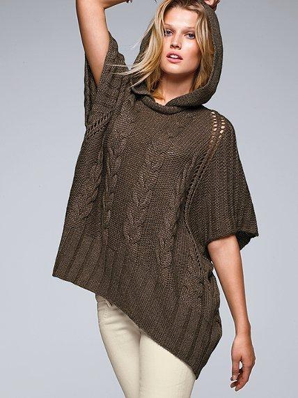 Victoria's Secret Cable Poncho Sweater