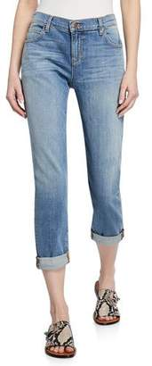 Eileen Fisher Abraded Denim Boyfriend Jeans