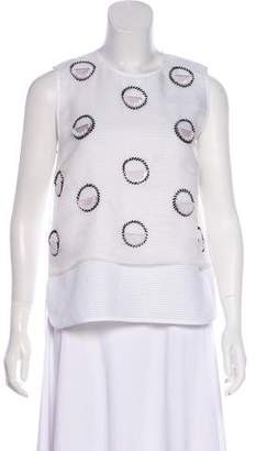 Mother of Pearl Embellished Sleeveless Top w/ Tags
