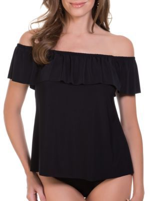 Magicsuit Solids Kris Off-the-Shoulder Tankini $118 thestylecure.com