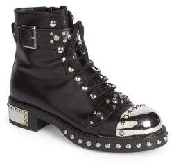 Alexander McQueen Studded Leather Moto Booties