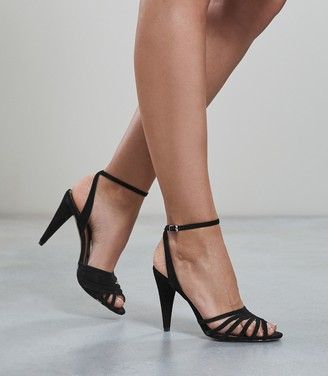 Reiss Garbo - Strappy High Heeled Sandals in Black