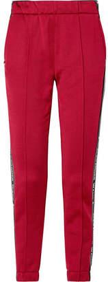 Alexander Wang Striped Cotton-blend Satin Track Pants - Burgundy