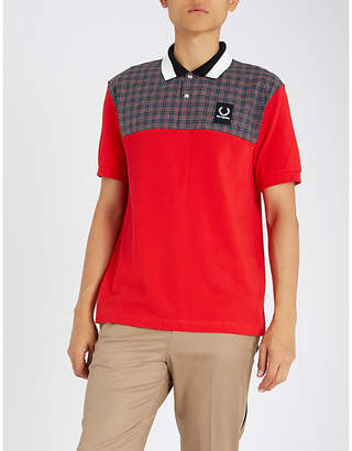 Fred Perry Checked yoke cotton-piqué polo shirt