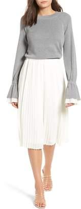 ENGLISH FACTORY Sweater Combo Dress