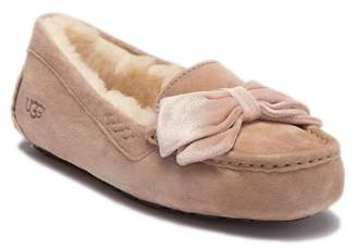UGG Clara Velvet Ribbon Suede Slipper (Women)