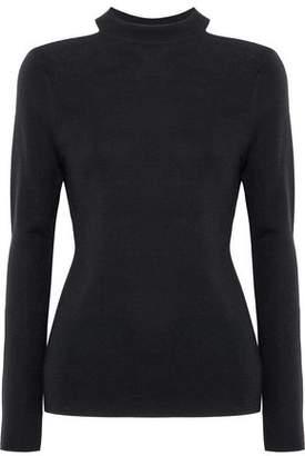 Elie Tahari Cold-Shoulder Merino Wool Sweater