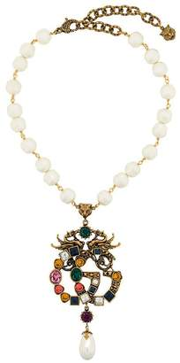 Gucci embellished GG necklace