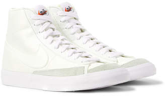 Nike Blazer Mid '77 Suede-Trimmed Canvas Sneakers - Men - Off-white