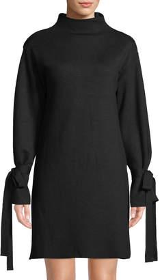 J.o.a. Tie-Sleeve Shift Sweater Dress