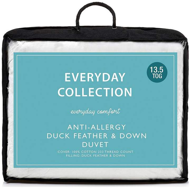 Everyday Collection Anti-Allergy Duck Feather And Down 13.5 Tog Duvet