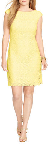 Lauren Ralph LaurenLauren Ralph Lauren Plus Crocheted Floral-Lace Dress