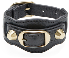 Balenciaga  Classic Buckle Leather Bracelet