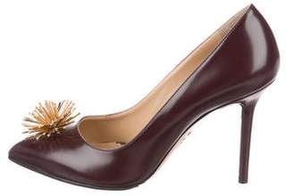 Charlotte Olympia Embellished Leather Pumps