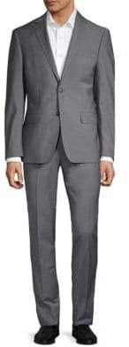 Calvin Klein Extra Slim-Fit Sharkskin Stretch Suit