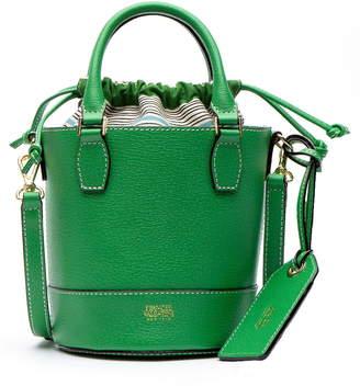 Frances Valentine Small Boarskin Leather Buckle Crossbody Bag
