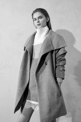 French Connenction Bennie Wool Wide Collar Coat