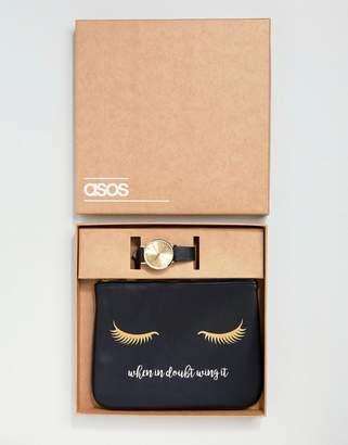Asos Makeup Bag and Sleek Watch Gift Set