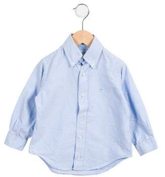 Marie Chantal Boys' Long Sleeve Button-Up Shirt