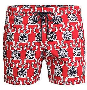 Vilebrequin Men's Primitive Turtle Print Swim Shorts