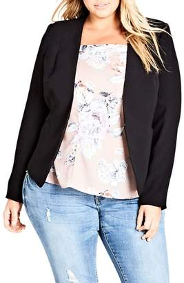 City Chic Pirouette Collarless Jacket
