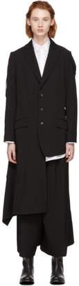 Yohji Yamamoto Black Right Waving Sleeve Blazer