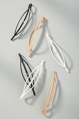 Anthropologie Lena Oval Hair Clip Set
