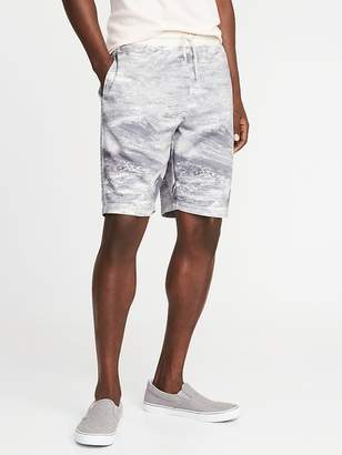 Old Navy Printed French-Terry Drawstring Shorts for Men