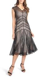 Komarov Lace Inset Midi Dress