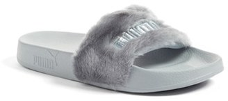 Women's Puma By Rihanna 'Leadcat Fenty' Faux Fur Slide Sandal $79.95 thestylecure.com
