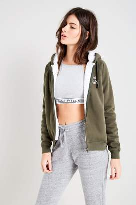 Jack Wills Earlsdon Sherpa Zip Up Hoodie
