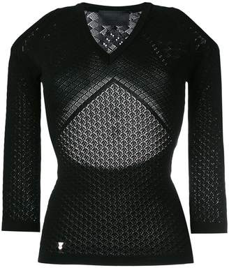 Philipp Plein cut-out knitted top