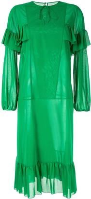 Rochas ruffle trim dress