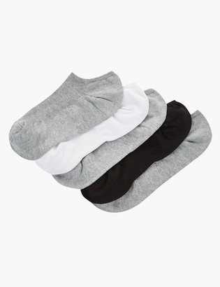 Marks and Spencer 5 Pair Pack Ultimate Comfort No Show Trainer Liner Socks
