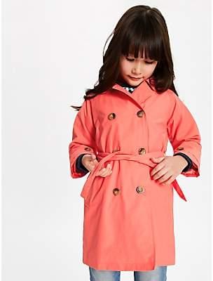 John Lewis & Partners Girls' Mac Coat, Pink