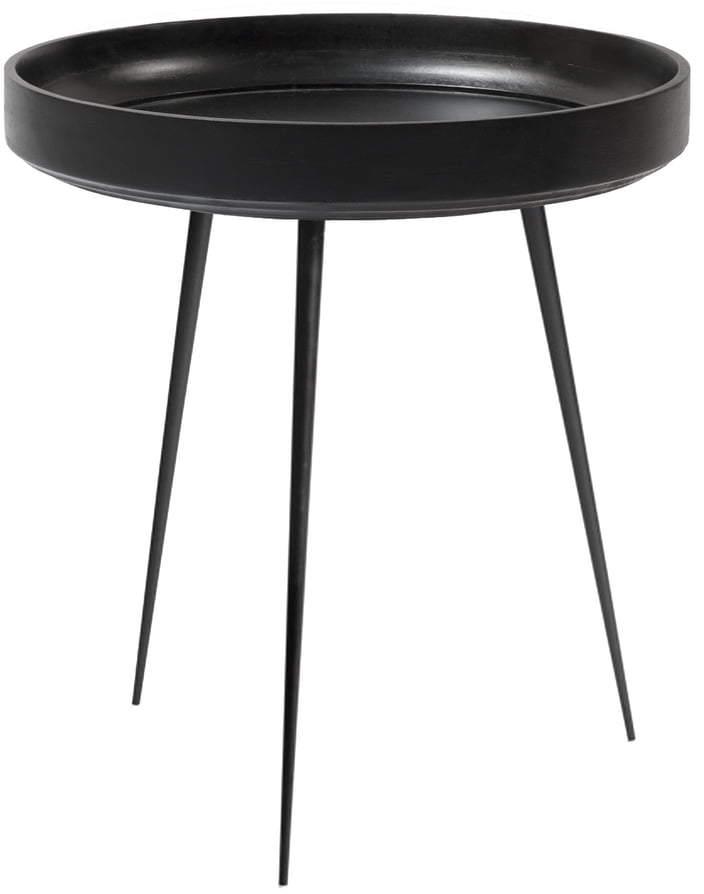 Mater - Bowl Table medium, Ø 46 x H 52 cm, Schwarz