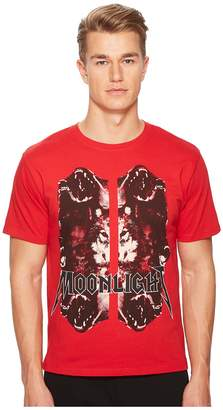 The Kooples Red Moonlight T-shirt with Wolf Motif Men's T Shirt