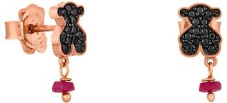 Tous Jeweled Bear Stud Drop Earrings