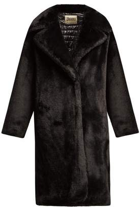 Herno Water Resistant Padded Faux Fur Coat - Womens - Black