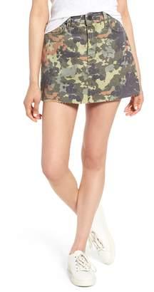Hudson Jeans The Viper Camo Cutoff Denim Miniskirt