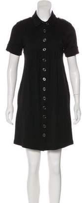 Burberry Wool Button-Up Mini Dress